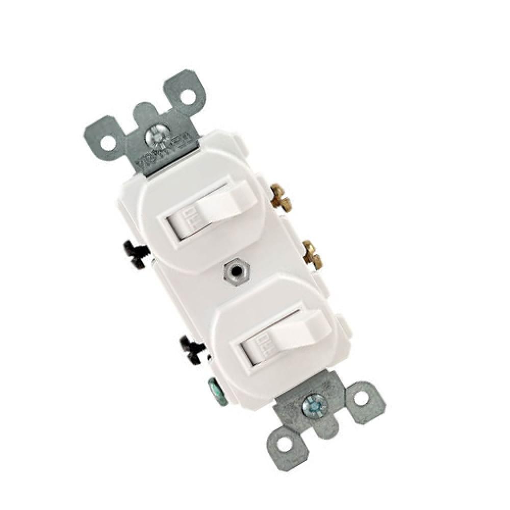 Single Pole, Duplex Switch Assembly, 15A - White (120/277V)