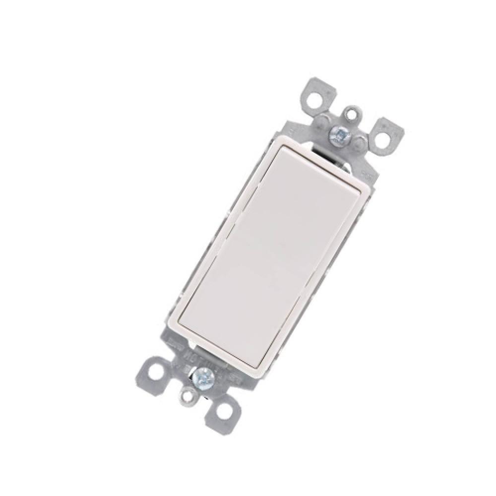 120/277V 3-Way Decorative Lighting Rocker Switch - White (15 Amps)*10