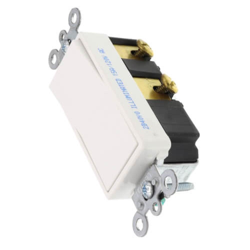 4-Way Decorative Lighting Rocker Switch - White (15 Amps, 120/277V)*25