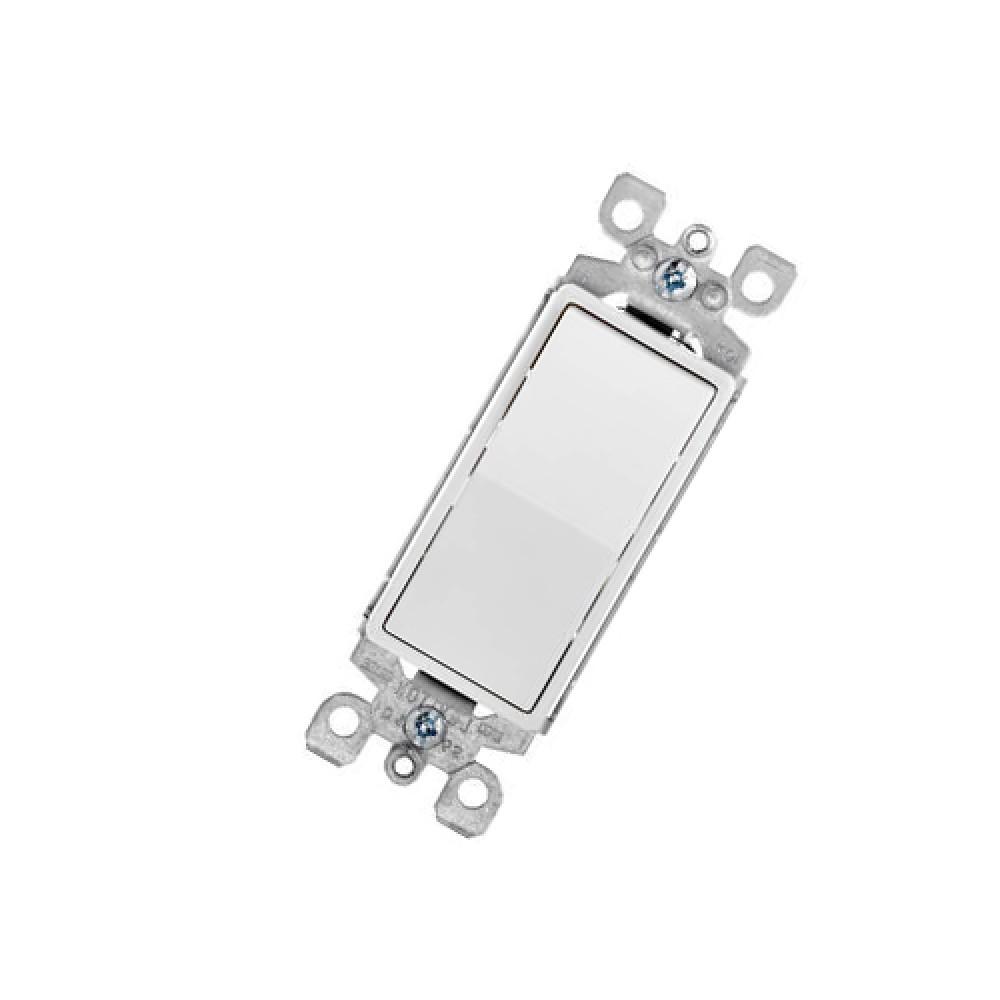 Illuminated Rocker Switch, Single Pole - White (15 Amps, 120/277V)