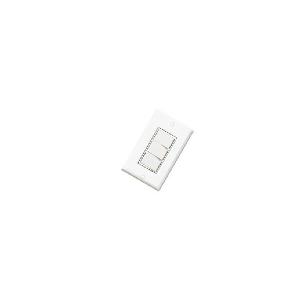 Single Pole Decora 3 Rocker, Commercial Grade Combination Light Switch - White (120V)*25