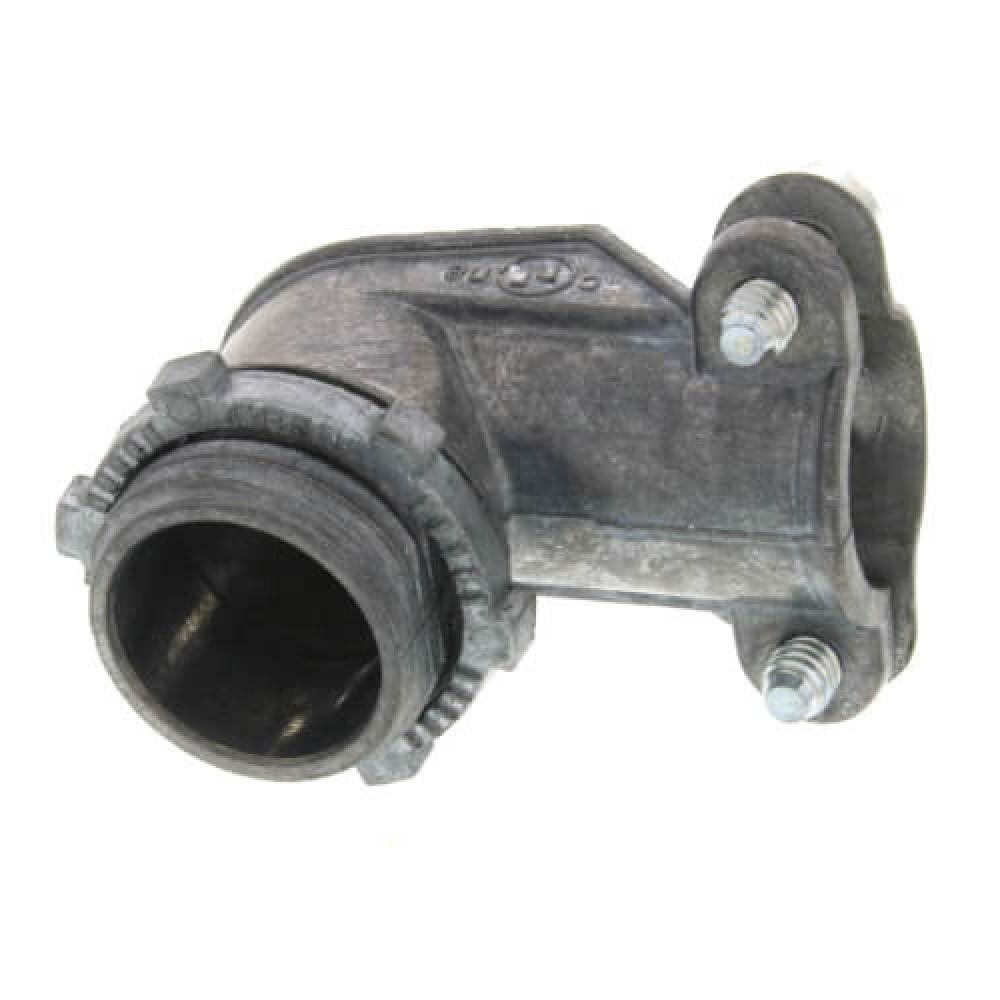 "3/8"" Zinc BX-Flex 90° Extruded Connector*10"