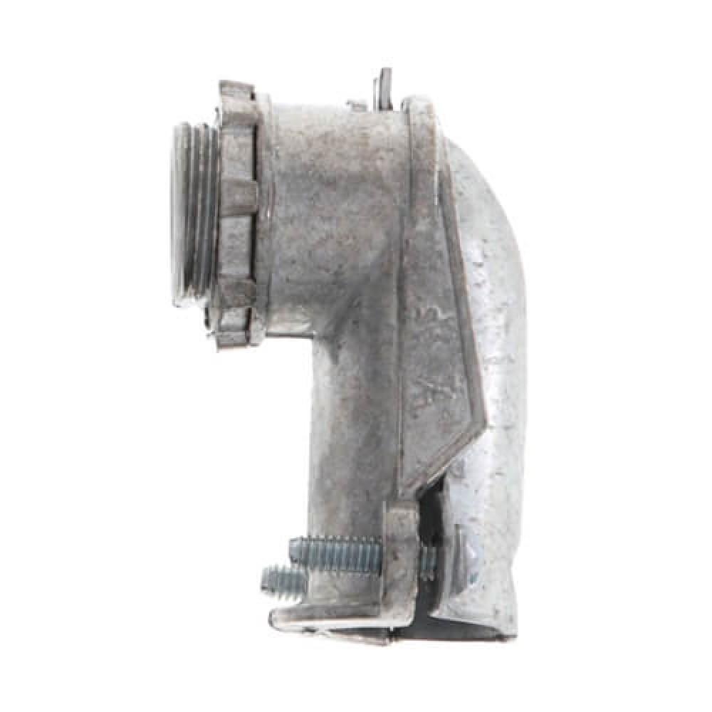 "1/2"" zinc alloy 90° extruded flexible connector*10"