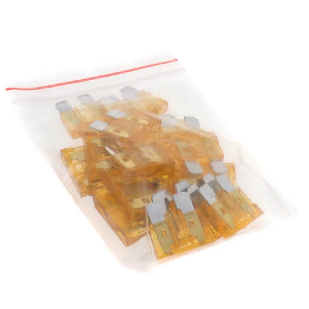 Fuses - standard size plastic, 5 amps (25 per pack) - 6 packs