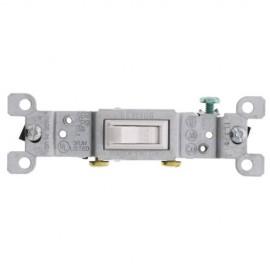 Single Pole Grounded Toggle Lighting Switch - White (120V)*10