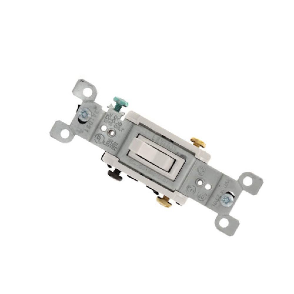 3-way framed toggle light switch - white (120V)*10