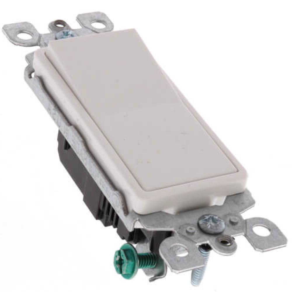 Decora Rocker Switch, Single Pole - White (15 amps, 120/277 volts)*10