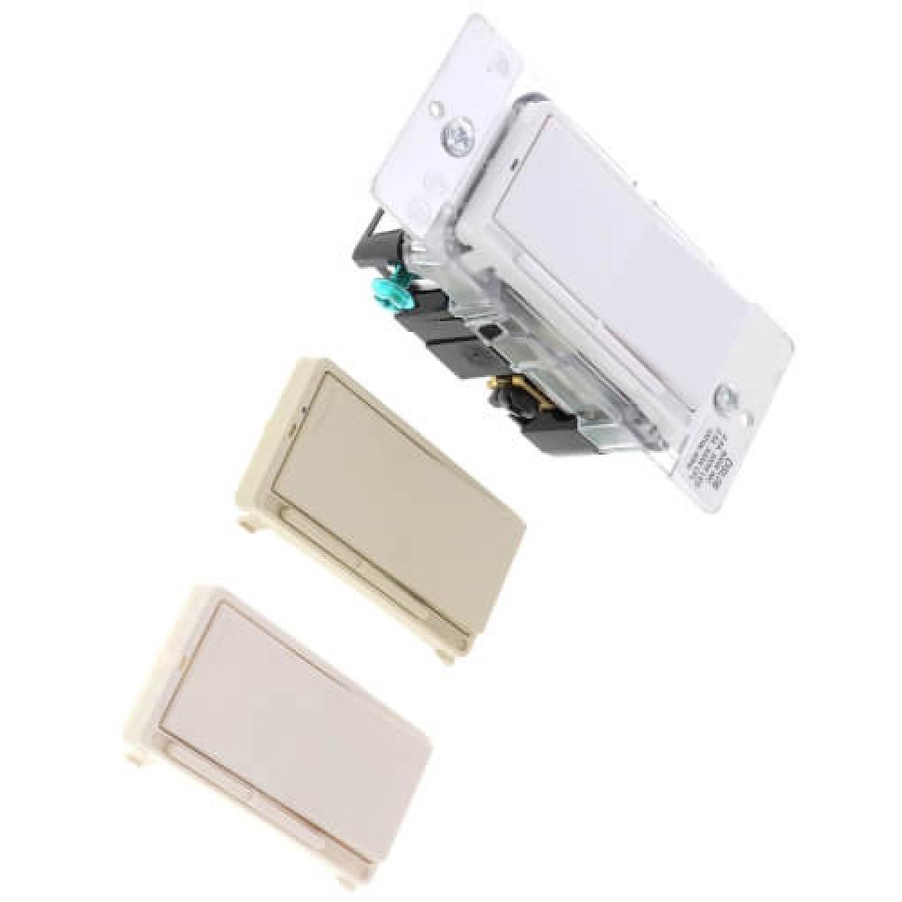 Dimmable LED Incandescent Lamp Rocker Slide Dimmer - White, Light Almond, Ivory (120V)