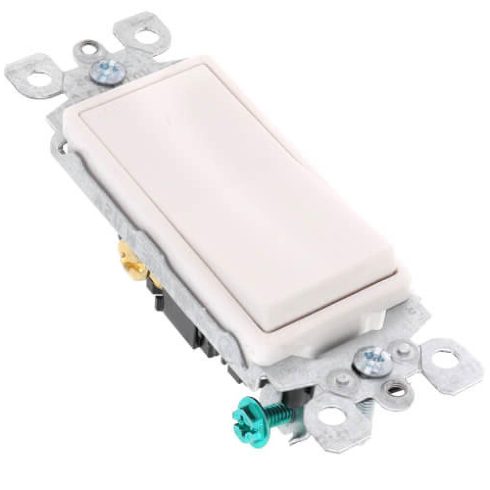 3-Way Decora Rocker Switch - White (15 amps, 120/277 volts)