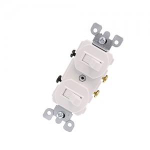 Single Pole, Duplex Switch Assembly, 20A - White (120/277V)*15